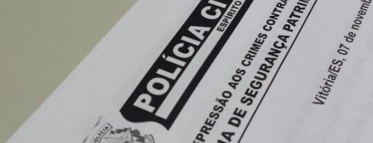 Policia Civil - Divisão Patrimonal is one of Trabalhos.