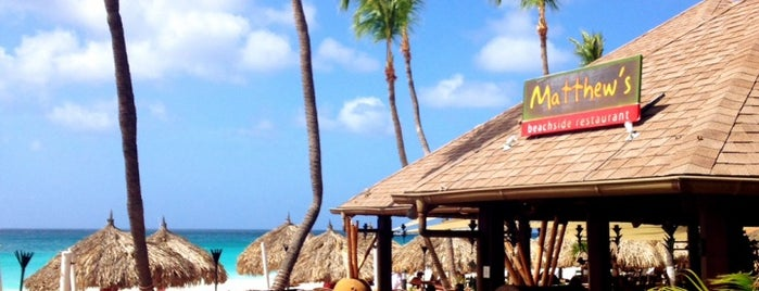 Matthew's Beachside Restaurant is one of Aruba.