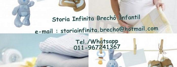 Storia Infinita Brecho Infantil is one of ECONOMIZE ATE 50% NA COMPRA DE ROUPINHAS DE GRIFE.