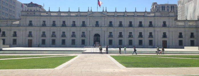 Palacio de La Moneda is one of [ Santiago ].