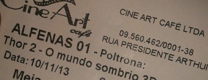 Cine Art Café is one of Lugares favoritos de Luiz.