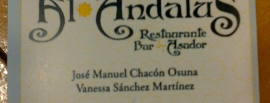 Restaurante Al-andalus is one of Restaurantes.