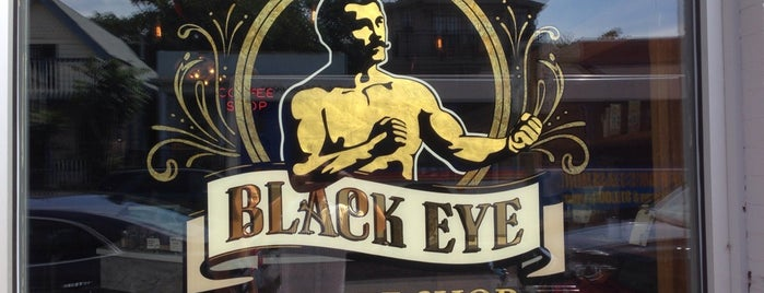 Black Eye Coffee Shop is one of Locais salvos de Celeste.