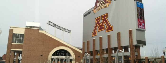 TCF Bank Stadium is one of Adventures.