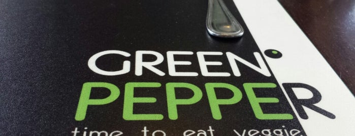 Green Pepper is one of Vegetarians.
