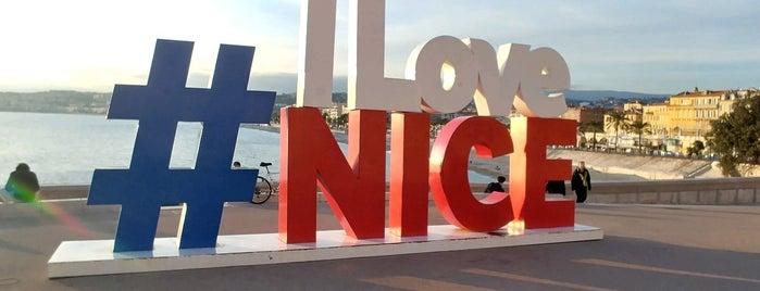 """I Love Nice"" Sign is one of Nice."