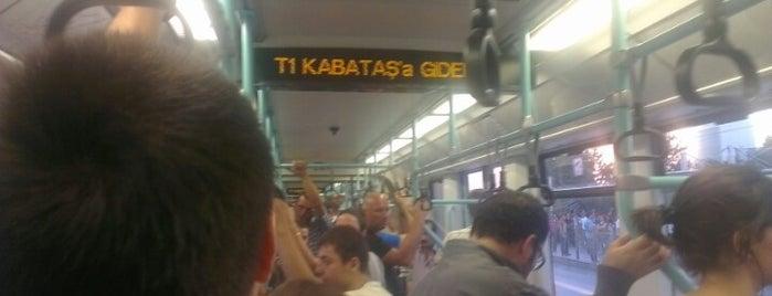 Kabataş - Bağcılar Tramvayı (T1) is one of Mustafa'nın Beğendiği Mekanlar.