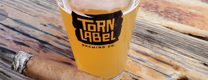 Torn Label Brewing Company is one of KC Q and Brew.