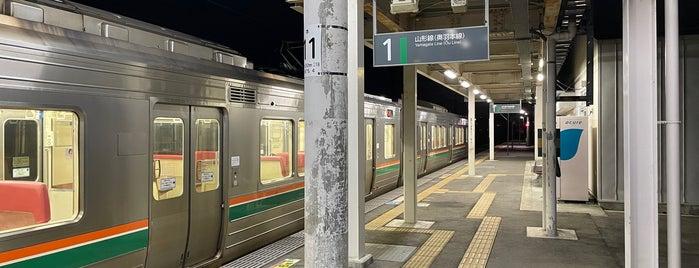 Urushiyama Station is one of JR 미나미토호쿠지방역 (JR 南東北地方の駅).