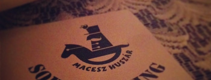 Macesz Huszár is one of Where to eat? (tried and recommended places).