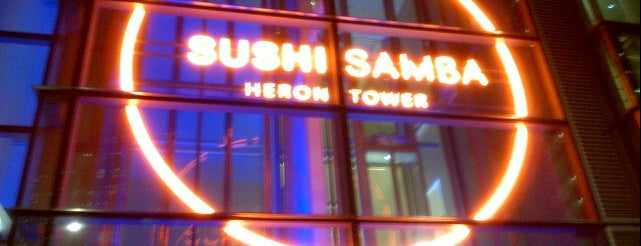 SUSHISAMBA City is one of London's Best Asian - 2013.