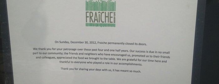 Fraiche Bakery & Cafe is one of Time Out Chicago 100 List.