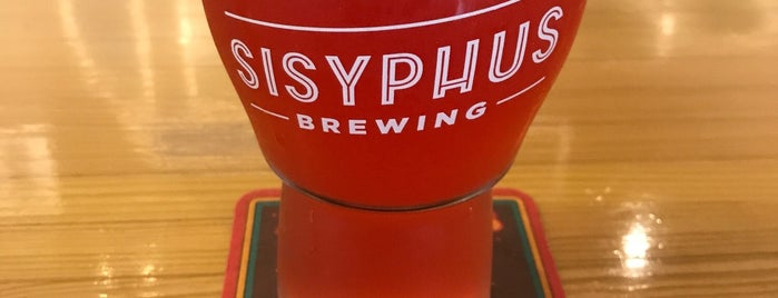 Sisyphus Brewing is one of Lieux qui ont plu à Jason.