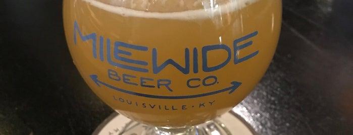 Mile Wide Beer Co. is one of สถานที่ที่ Garrett ถูกใจ.