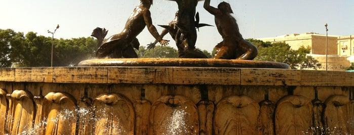 Triton Fountain is one of Malta 2019.