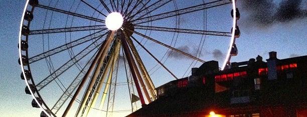 The Seattle Great Wheel is one of Seattle, WA.