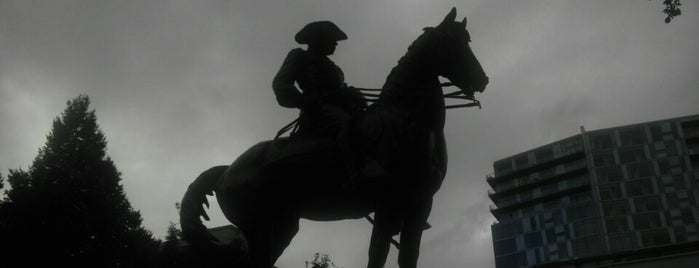 """Theodore Roosevelt """"Rough Rider"""" Statue is one of The Portland Experience."""