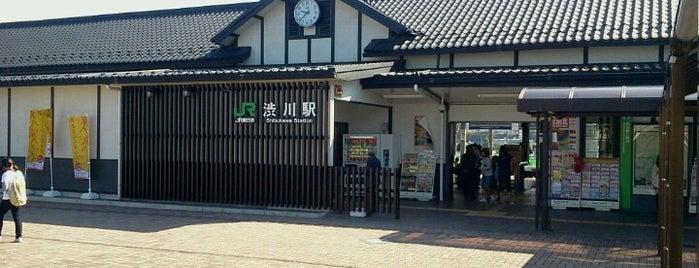 Shibukawa Station is one of JR 키타칸토지방역 (JR 北関東地方の駅).