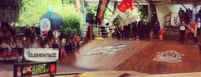Mystic Skatepark Štvanice is one of Skateboard.