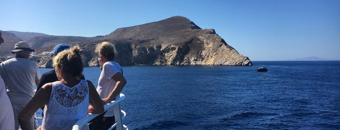 Folegandros is one of The Seven Ten Split Bagde.