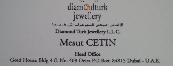 Diamond Turk Jewellery LLC is one of Kuyumcular.