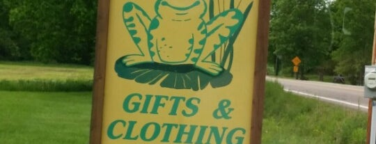Green Frog Gifts & Clothing is one of Adirondacks and Vermont.