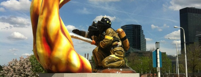Cleveland Fire Fighters Memorial is one of CLE Public Art.