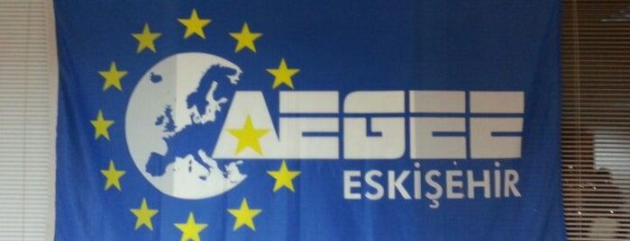 AEGEE-Eskişehir / Anadolu Üniversitesi Avrupa Öğrencileri Forumu Kulübü is one of Ata Can'ın Beğendiği Mekanlar.