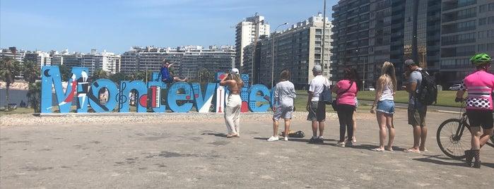 Letrero Montevideo is one of montivideo - uruguay.