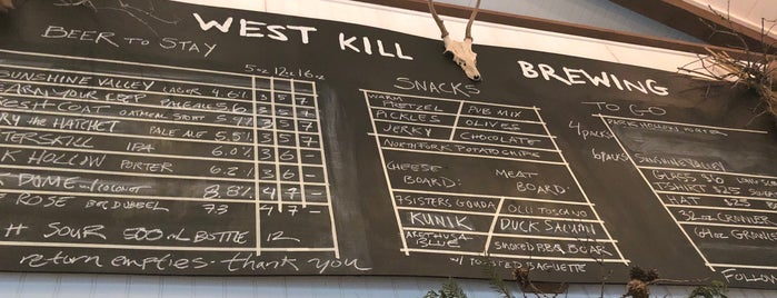 West Kill Brewing is one of Craft Beer.