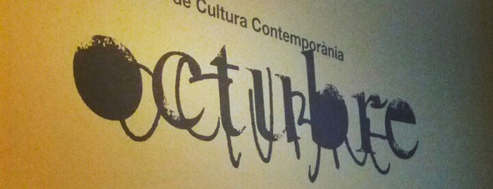 Octubre Centre de Cultura Contemporània is one of Lieux sauvegardés par Анна.