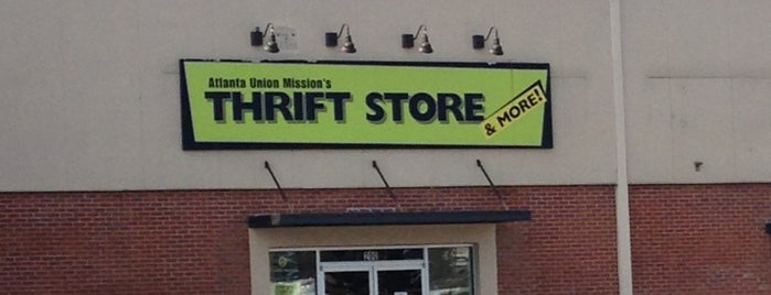 Atlanta Union Mission's Thrift Store is one of Thrifting Spots in the Southeast.