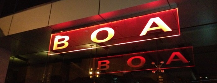 BOA Steakhouse is one of Eats California.