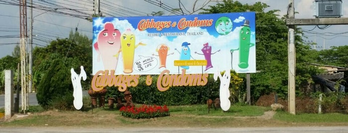 Cabbages and Condoms Inn and Restaurant is one of Tempat yang Disukai Christina.