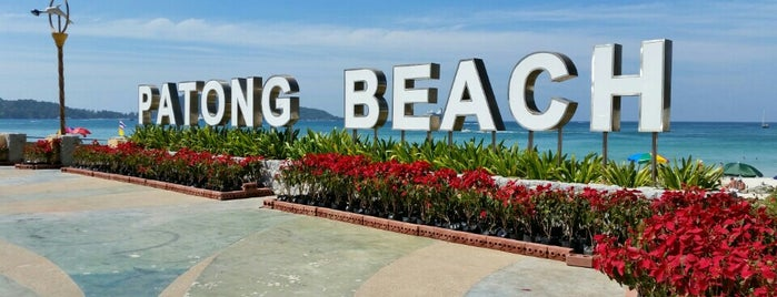 Patong Beach is one of Tempat yang Disukai Christina.