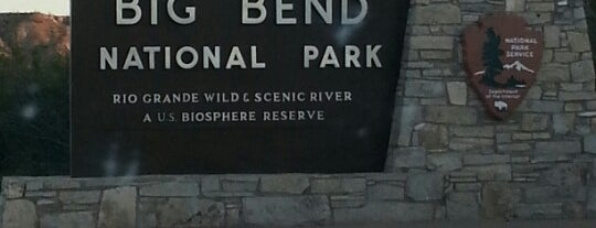 Big Bend National Park is one of MRF.