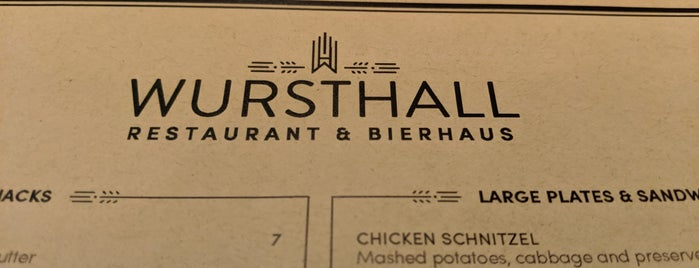 Wursthall is one of New American.