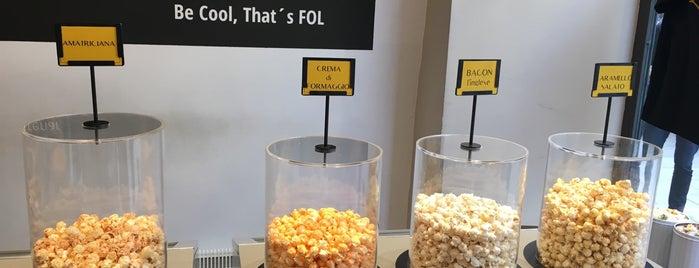 FOL gourmet popcorn is one of สถานที่ที่ Miguel ถูกใจ.