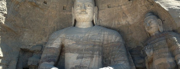 Yungang Grottoes is one of Orte, die Dave gefallen.