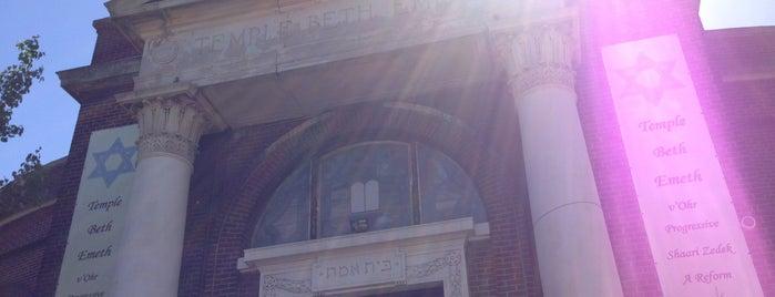 Beth Shalom v'Emeth Reform Temple is one of Ditmas Park vs. Flatbush.