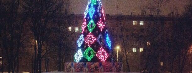 Площадь Курчатова is one of Tempat yang Disimpan Vika.