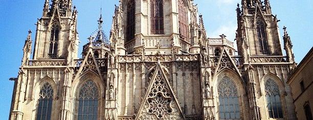 Catedral de la Santa Creu i Santa Eulàlia is one of Spain. Barcelona.