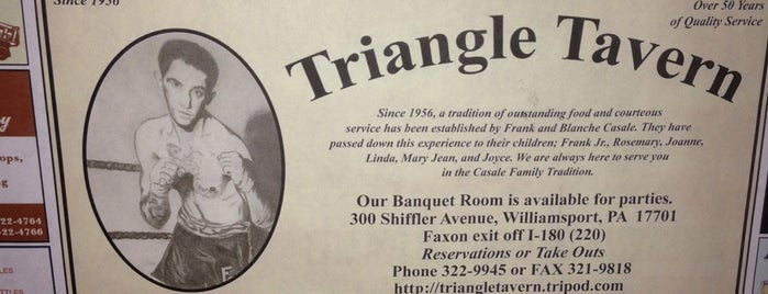 The Triangle Tavern is one of DRINKING out of town.