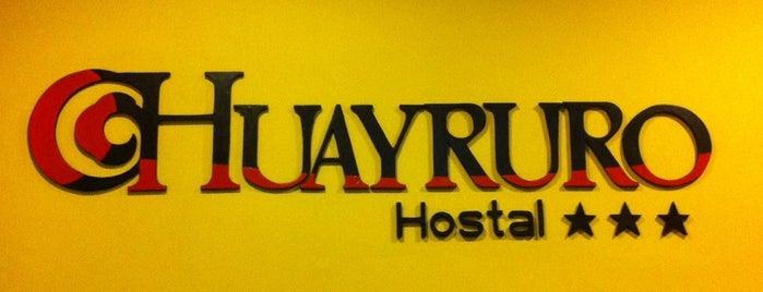 Hostal Huayruro is one of Locais curtidos por Mym.