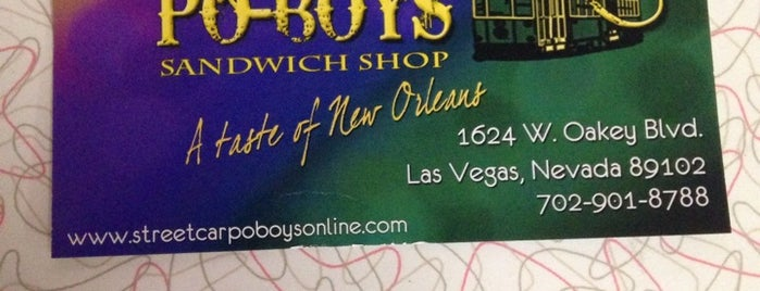 Streetcar Po-Boys is one of Las Vegas Partners!.
