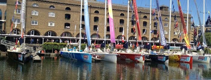 St Katharine Docks is one of Twenty-One London Picks.