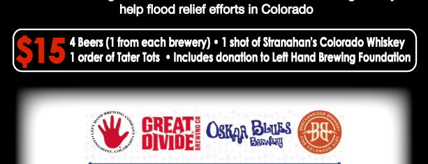 Idle Hands Bar is one of Colorado Flood Relief Support Bars - NYC.