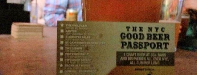 Idle Hands Bar is one of NYC Good Beer Passport (2014).