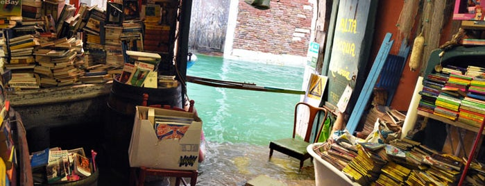 Libreria Acqua Alta is one of Venice.