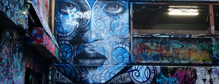 Hosier Lane is one of Melbourne.